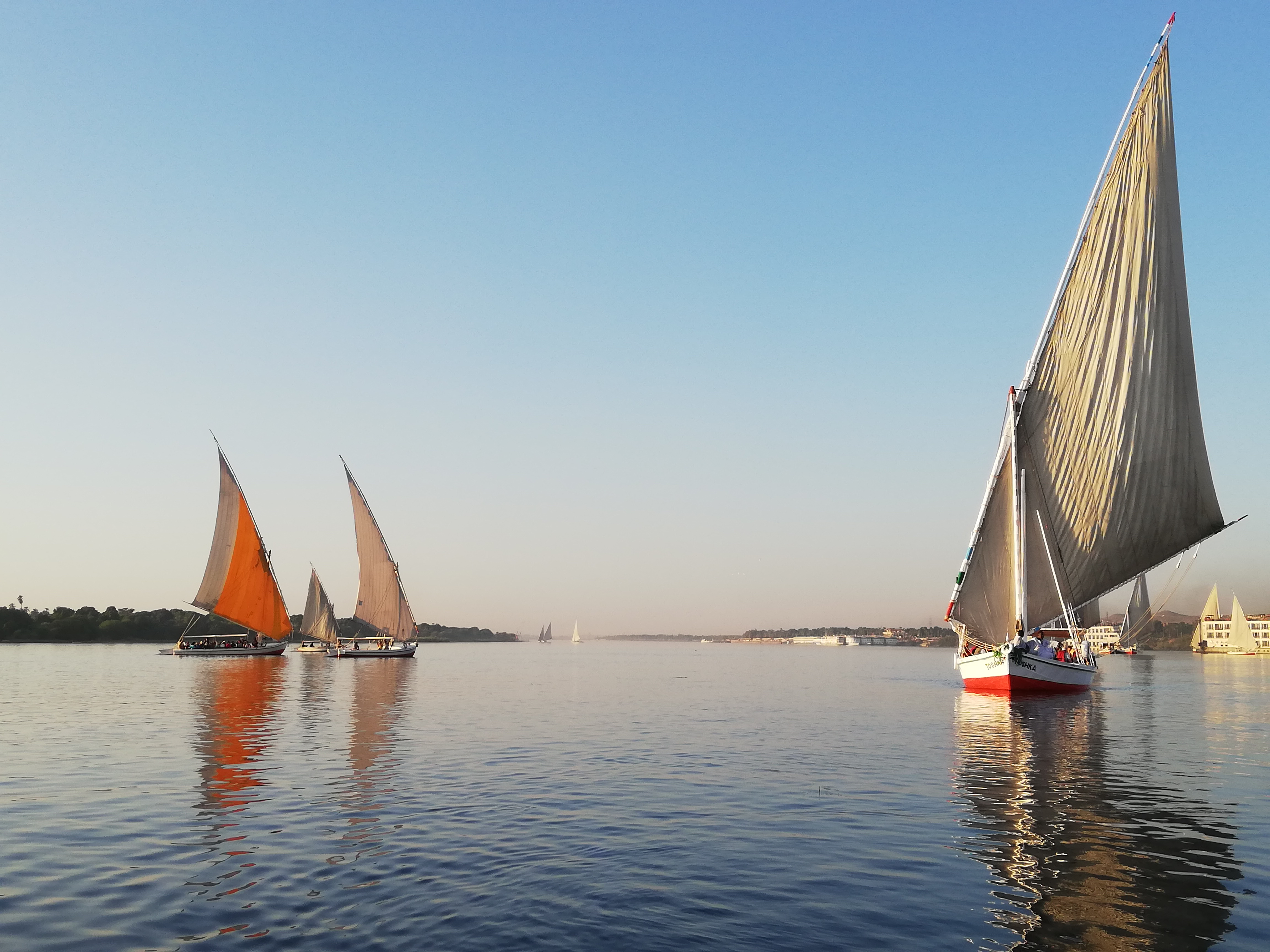 Il Nilo in feluca