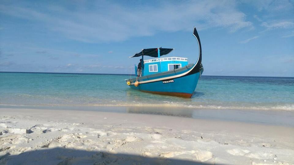 il nostro mezzo di trasporto alle Maldive
