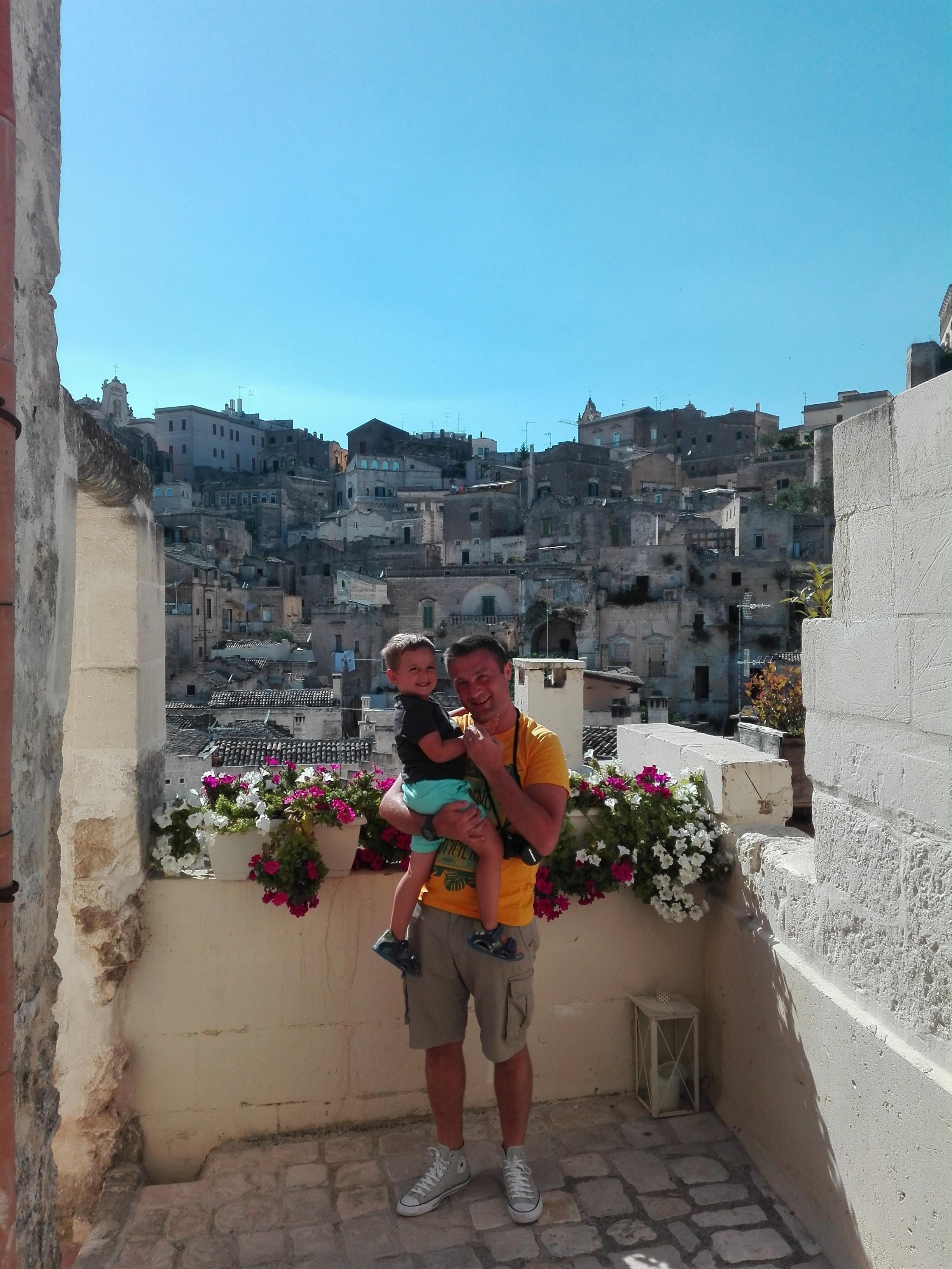 Il panorama dalla nostra camera a Matera