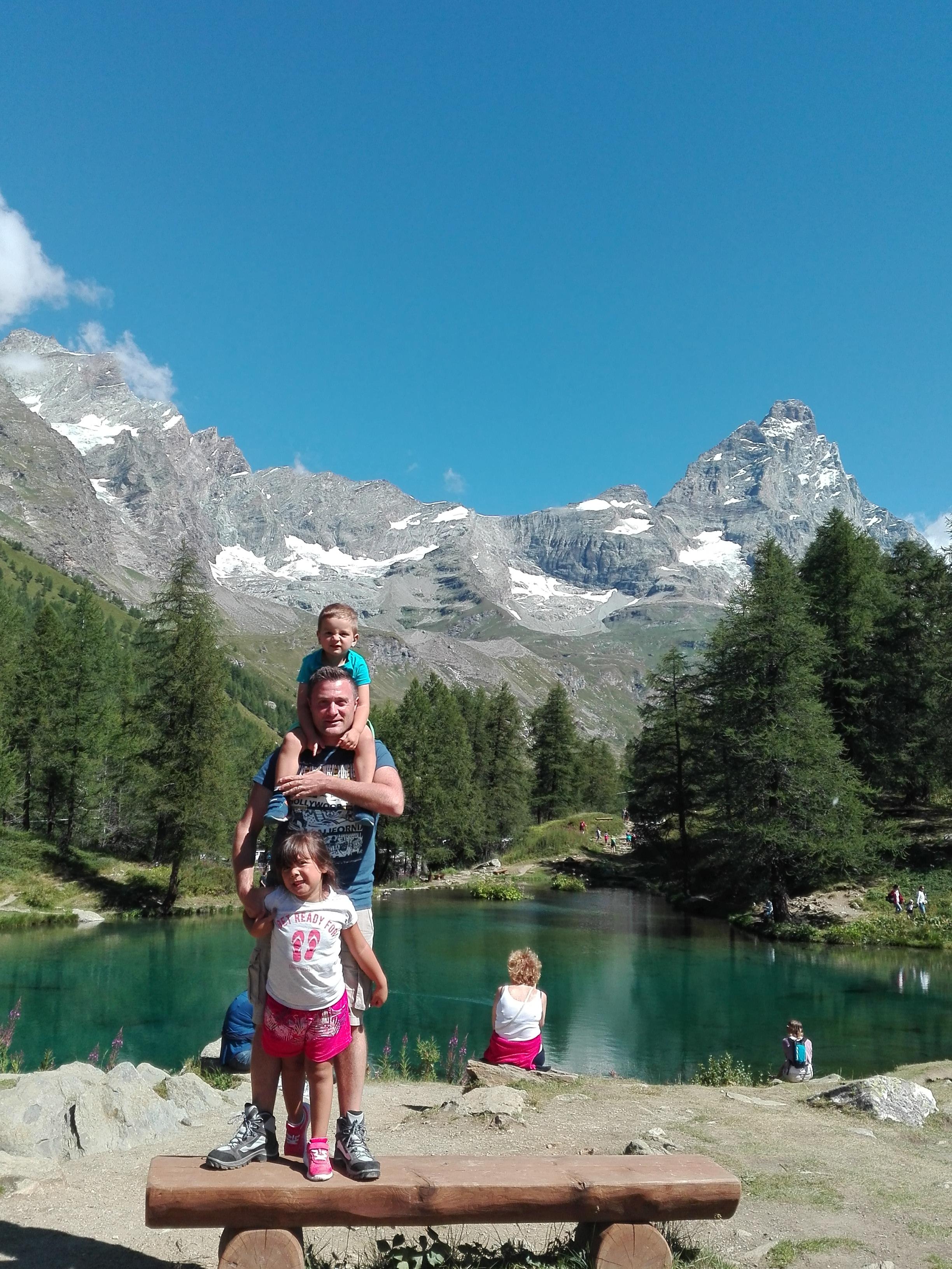 Cervinia - Lago Blu e smorfie e facce brutte