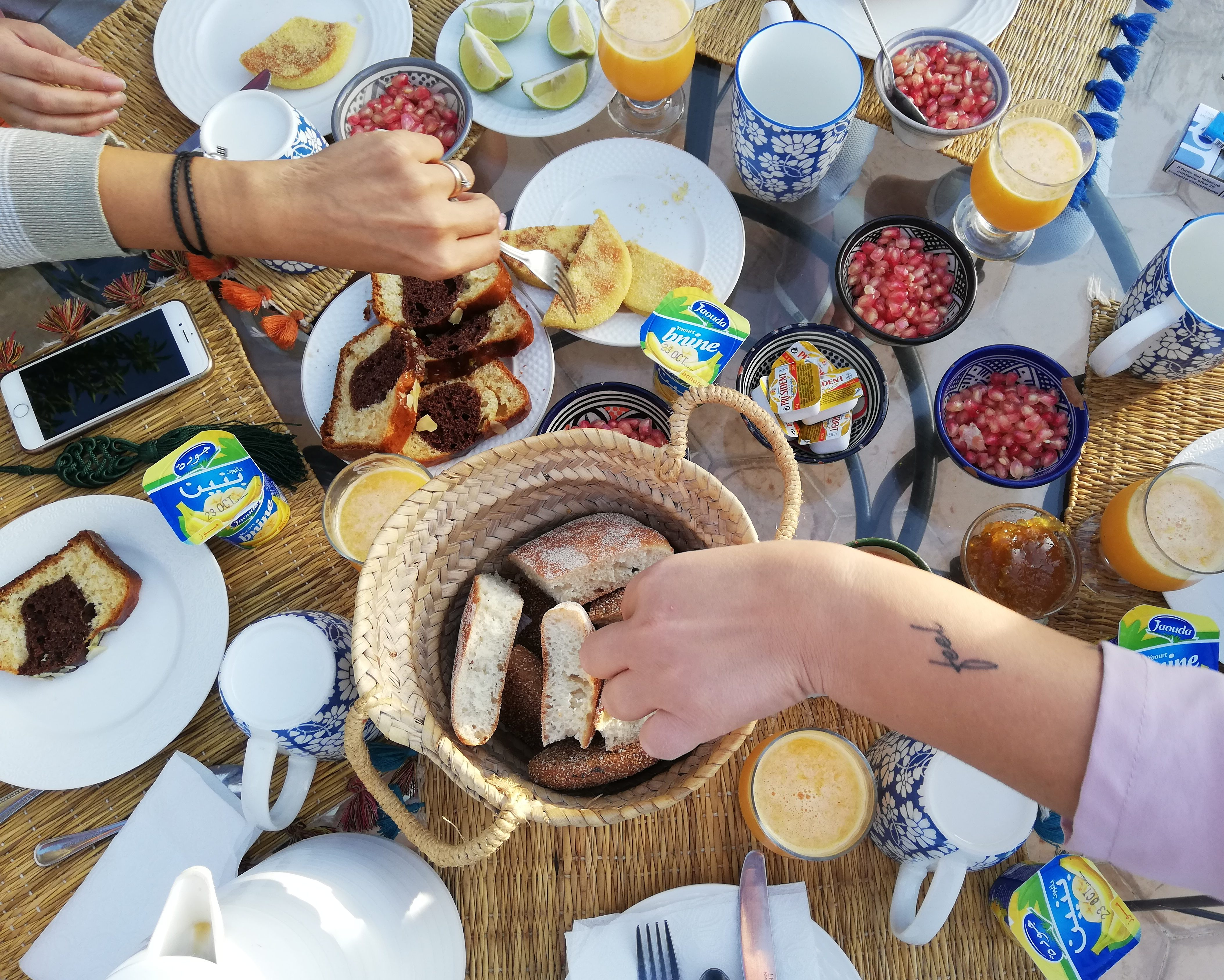 Colazione al Riad Le Coq Berbere Fou
